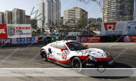 Montoya op pole, Vanthoor tweede in GTE in Long Beach Imsa