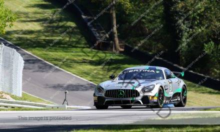 Ward Sluys en Bas Schouten grijpen net naast podium in GT4 Brands Hatch